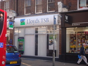 English: A Lloyds TSB bank branch in Enfield, London.