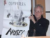 English: Ted Nelson keynote at the ACM Hypertext 03 conference in Nottingham. Photograph by Tim Brailsford.