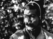 English: Japanese actor Masayuki Mori as samurai Kanazawa-no-Takehiro in Rashomon 1950 film 日本語: 森 雅之 Česky: Masajuki Mori