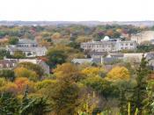 The northern KSU campus in fall