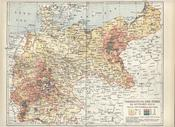Map showing distribution of Jews in the German Reich as of the 1890s