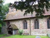 English: St. John The Baptist, Hughley A E Housman included a reference to its 'spire' in his poem 'A Shropshire Lad'