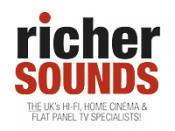 English: Richer Sounds logo