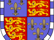 The coat of arms of Christ's College, Cambridge, a college of the University of Cambridge where Darwin was enrolled to become a clergyman.