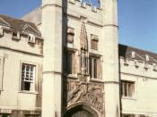The Great Gate, Christ's College, Cambridge.