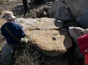Shamanism Field Trip - Grinding Stone at Mockingbird Canyon Cave