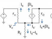 Small-signal circuit to find output resistance of current mirror