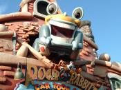 English: Entrance to Roger Rabbit's Car Toon Spin in Toontown