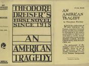English: Dust jacket for Theodore Dreiser's