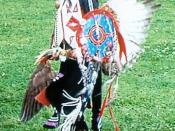 English: A Native American Boy, Lasakuyuntehse (He Brings Thunder) member of the Oneida Nation. Salamanca Pow-wow, Salamanca, New York or Six Nations Pow Wow Summer of 2005