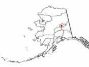 Location of Fairbanks, Alaska