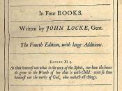 Title page for the fourth edition of John Locke's Essay Concerning Human Understanding