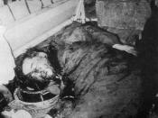 The body of Diem in the back of the APC, having been executed on the way to military headquarters.