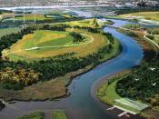 An illustration of the future Fresh Kills Park.