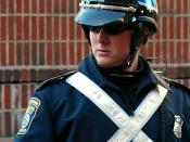 Boston Police - Special Operations Officer on duty at the 2007 Boston Veteran's Day parade.