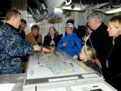 Members of Congress and their families visit USS George H.W. Bush.