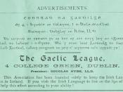 English: Advertisement for Gaelic League in Gaelic Journal, Volume 5, nr 3 June 1894