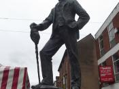 Statue of A E Housman - Bromsgrove High Street