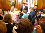 English: Marriage of Del Martin and Phyllis Lyon by San Francisco Mayor Gavin Newsom