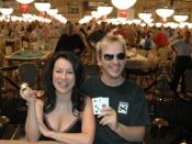 Jennifer Tilly and Phil Laak at the 2005 World Series of Poker - Rio Las Vegas.