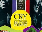 Film poster for Cry, the Beloved Country (1995 film) - Copyright 1995, Miramax