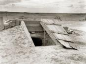 Storm cellar on the Texas plains.