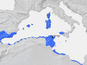 Carthage and its dependencies in the 3rd century BC. It was one of a number of Phoenician settlements in the western Mediterranean.