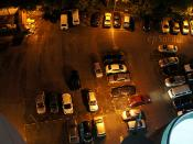 cars parking at night in malaysia