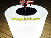 Fashion Polyethylene Competitive LED Coffe Table