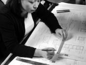 Drafter at work : Drafters pay careful attention to detail in their technical drawings.