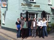 English: A photo taken at the Panton Arms, Cambridge, of the drafters of the Panton Principles.