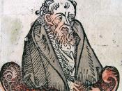 Empedocles as portrayed in the Nuremberg Chronicle