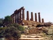 The temple of Hera at Agrigentum, built when Empedocles was a young man, c. 470 BC.