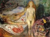Death of Marat by Edvard Munch, 1907.