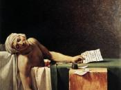 The Death of Marat by Jacques-Louis David, imitated in bathtub scene