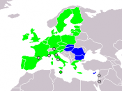 green - EU agency host state; blue - the rest of the EU states