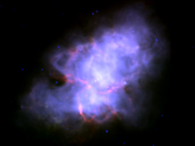 The Crab Nebula seen in infrared by the Spitzer Space Telescope.