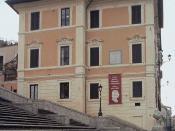 English: View of the Keats-Shelley House from the Spanish Steps.