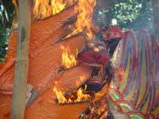 Cremation Guruda Burning Bali