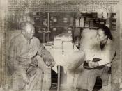 PEKING, 29 Dec 1972 - Chinese President Mao Tse-tung with Viet Cong Minister - Chủ tịch Mao Trạch Đông tiếp bộ trưởng ngoại giao VC Nguyễn Thị Bình