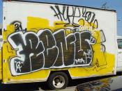 Graffiti on a truck: renuer