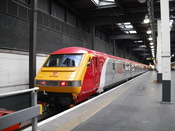 English: Virgin Trains Mk3 DVT at Euston