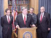 English: U.S. Rep. Phil English (R-PA) along with Reps. Mark Green (R-WI), Chris Chocola (R-IN) and Robin Hayes (R-NC) at a press conference in the U.S. Capitol building announcing English's bill, H.R. 3004, the Currency Harmonization Initiative through N