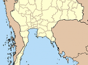 Map of Thailand highlighting Phuket province