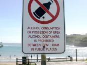 sign informing citizens of illegal drinking hours located in Port Campbell, Victoria, Australia. Author: me, Paul Vlaar Date: 2005-01-23 Source: http://www.neep.net/photo/signs/show.php?8983
