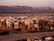 English: The high-rise architectures at Shibam, Wadi Hadhramaut (or Hadhramout, Hadramawt) Yemen. Français : L'architecture tout en hauteur du village de Shibam, dans l'Hadramaout, au Yemen. Italiano: Lew alte costruzioni a Shibam, Wadi Hadhramaut (o Hadh
