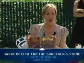Author J.K. Rowling reads from Harry Potter and the Sorcerer's Stone at the Easter Egg Roll at White House. Screenshot taken from official White House video.