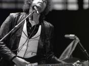 English: Bob Dylan performing in Rotterdam, June 23 1978