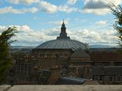 McEwan Hall roof from National Museum of Scotland
