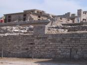Ruins of the palace at Knossos.